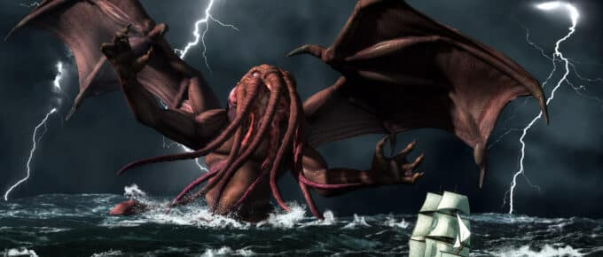 Realistic illustration of Cthulhu