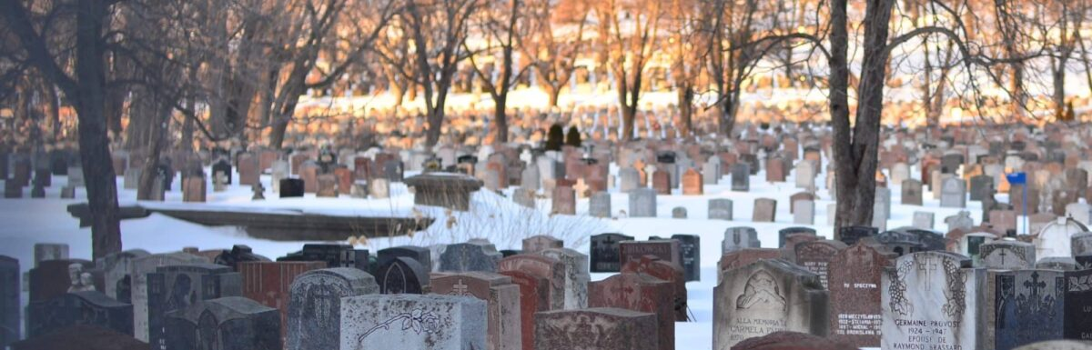 Photo of a graveyard from Unsplash