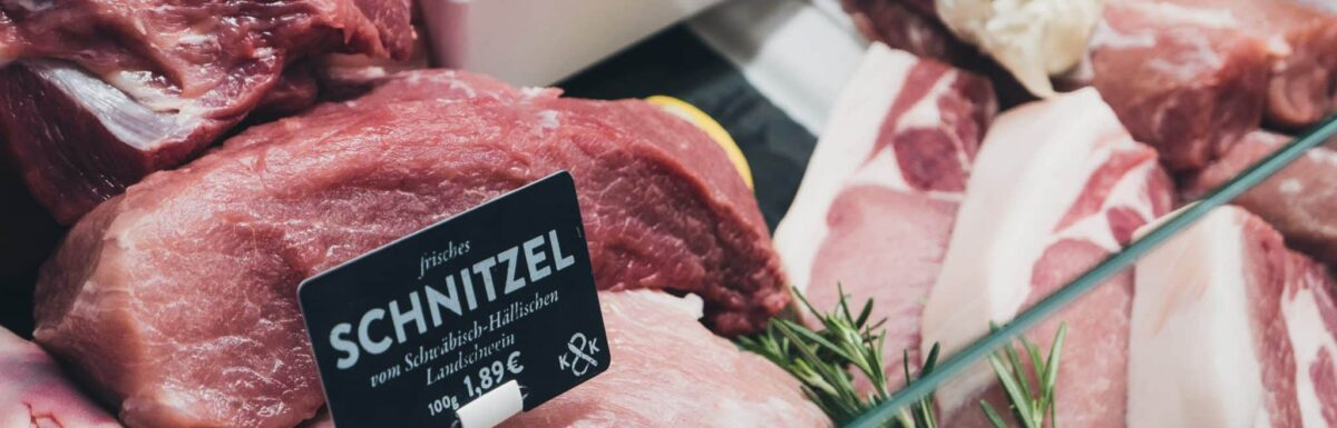 Meat in a butcher's shop
