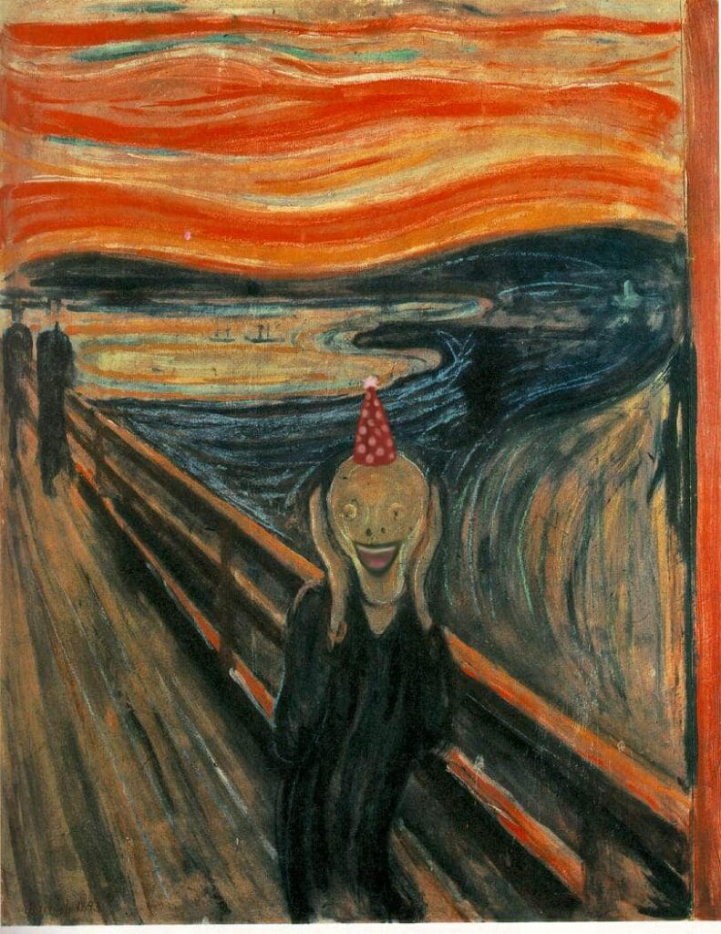 """The Scream"" by Edvard Munch, but I fixed it."