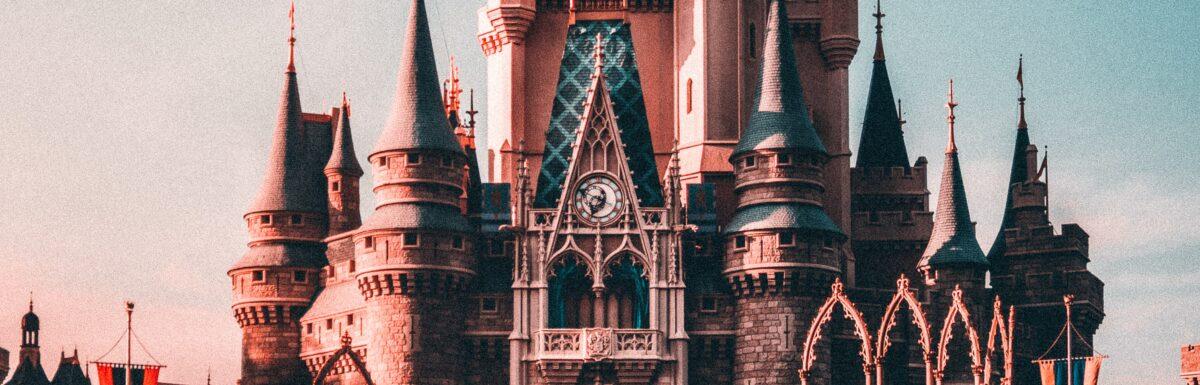 A fairytale castle at dusk (I think)