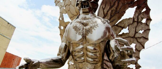 Photo of mothman statue