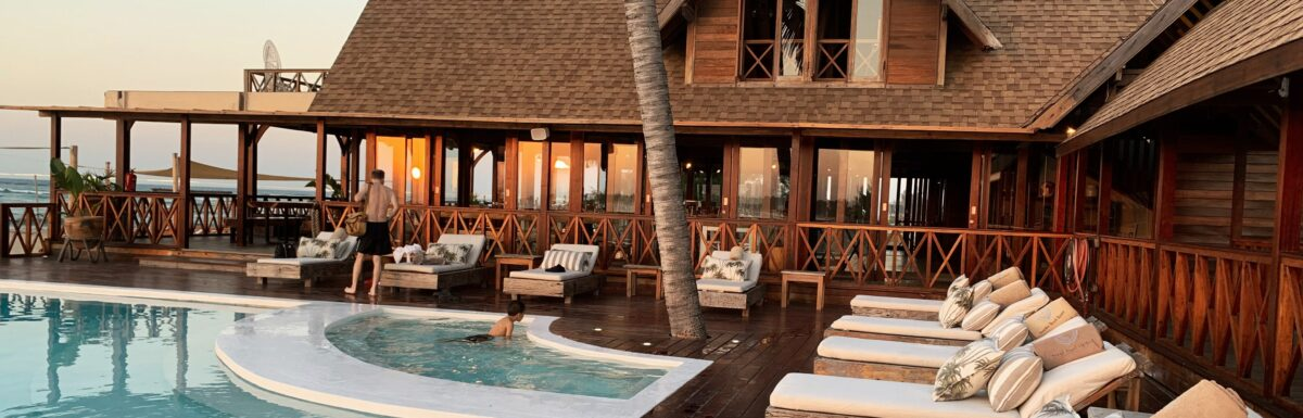 Poolside at a luxury resort