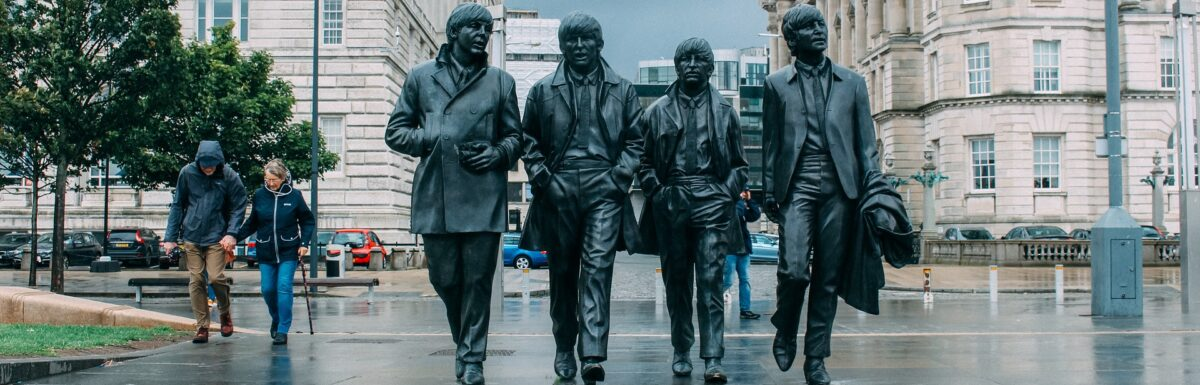 Beatles statue in Liverpool (I think)