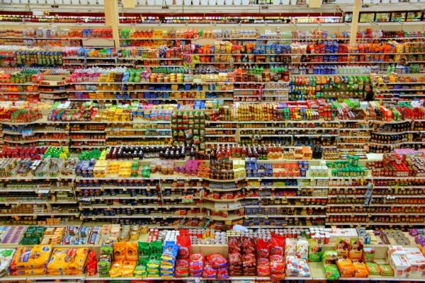 Aisles from a supermarket