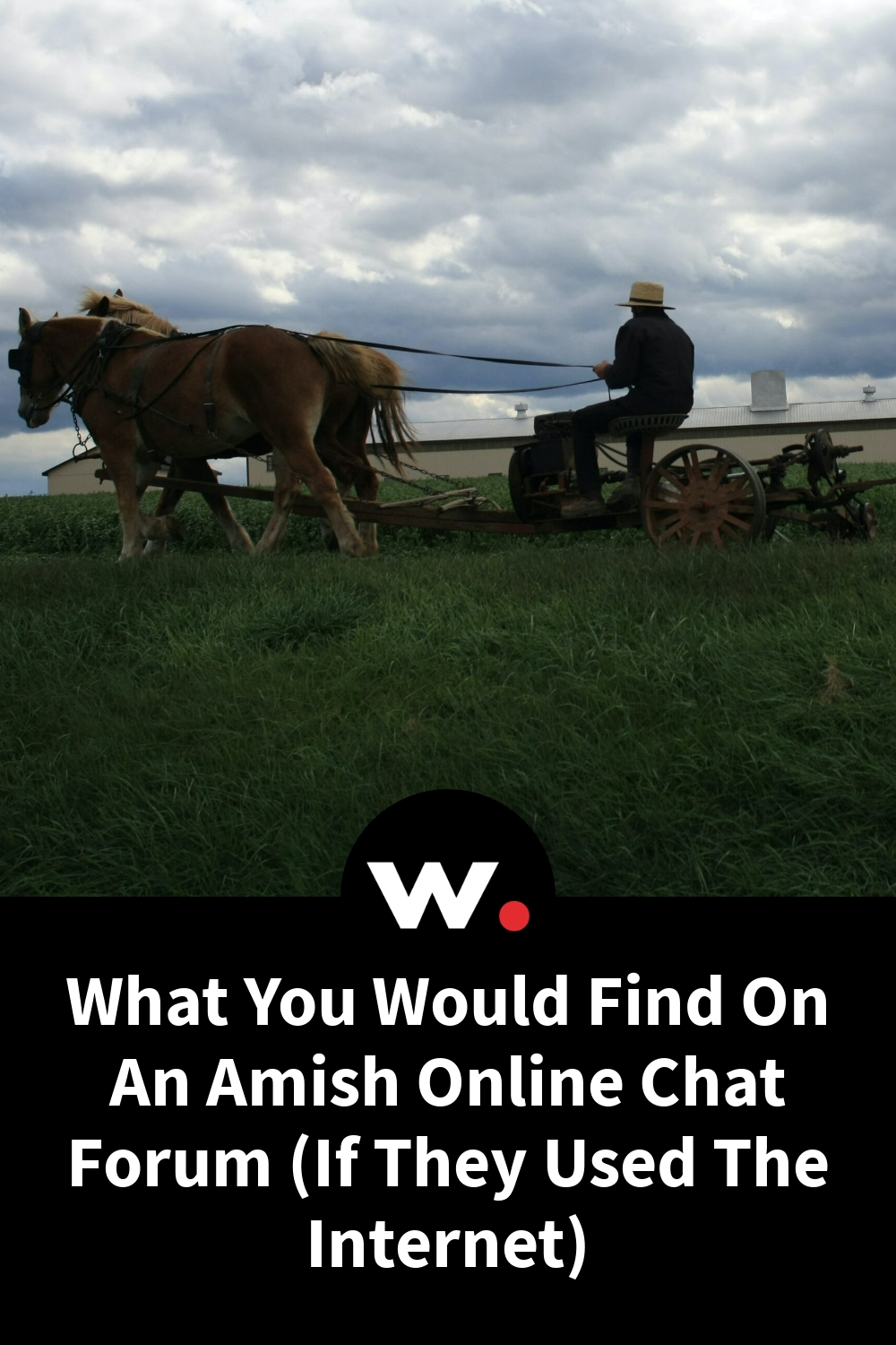 What You Would Find On An Amish Online Chat Forum (If They Used The Internet)