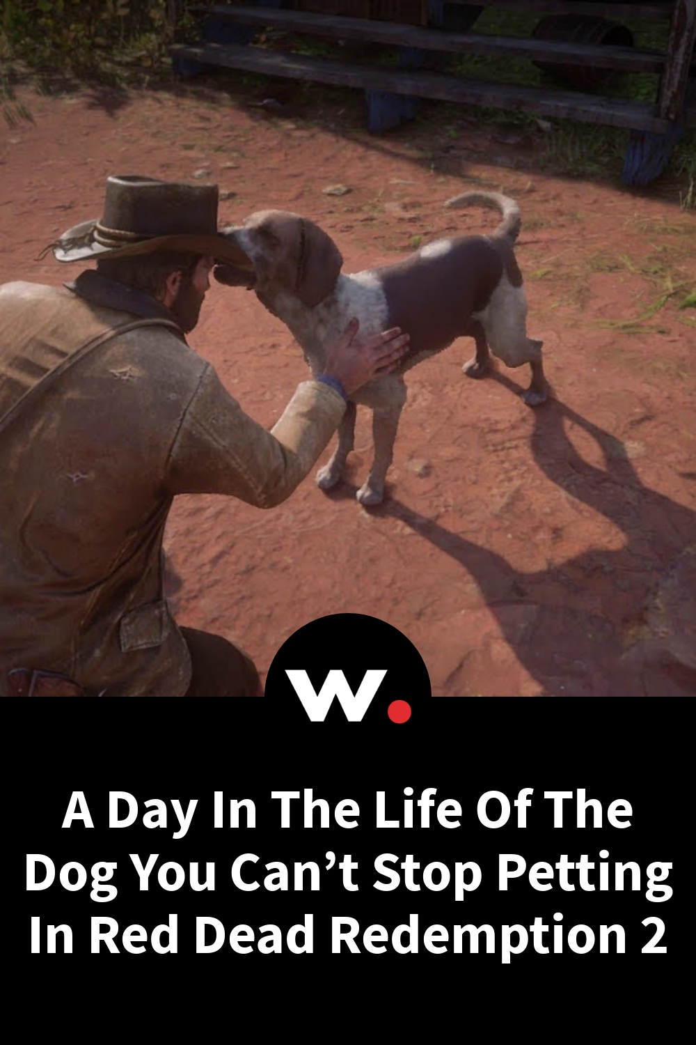 A Day In The Life Of The Dog You Can't Stop Petting In Red Dead Redemption 2