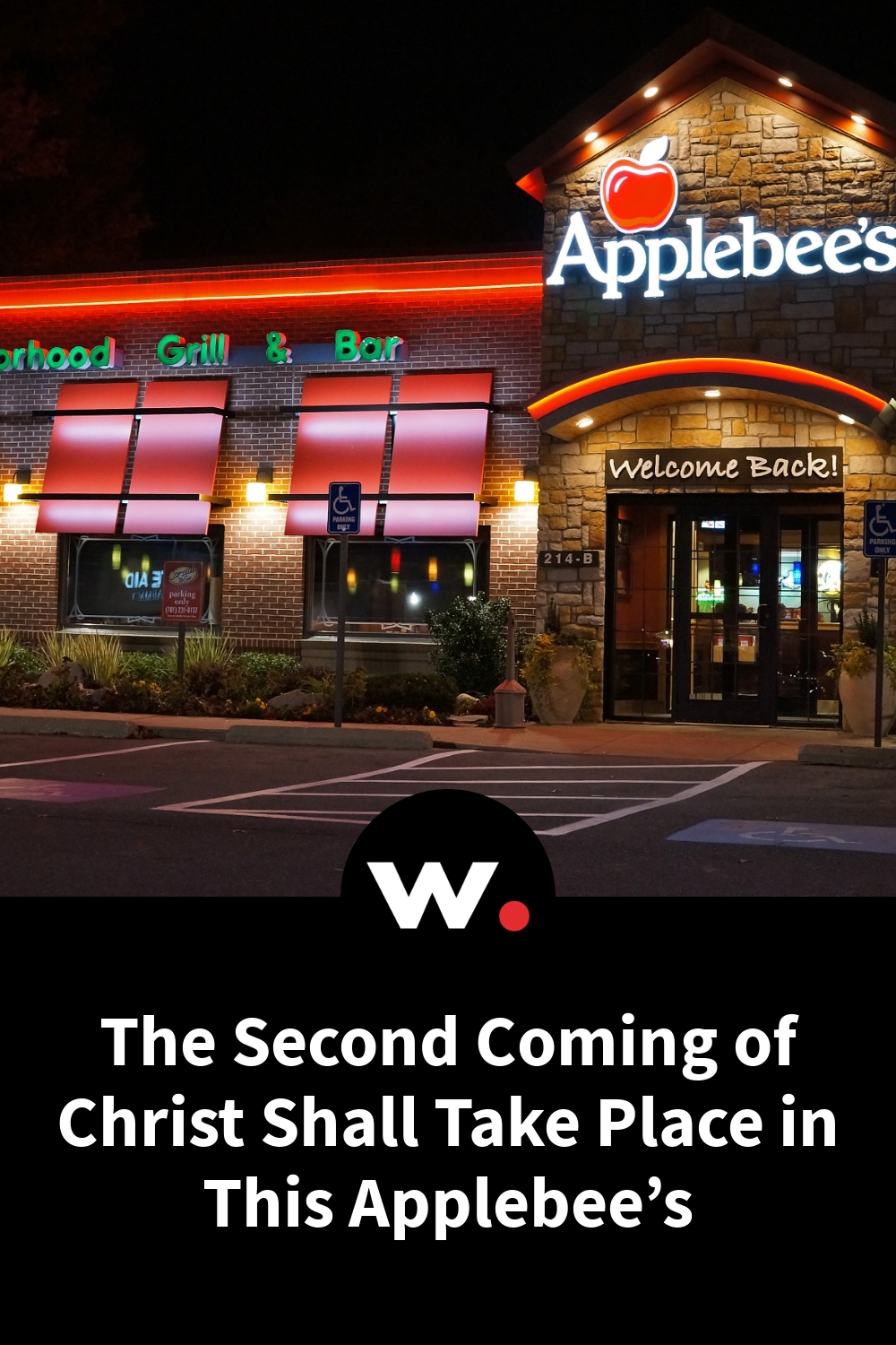 The Second Coming of Christ Shall Take Place in This Applebee's